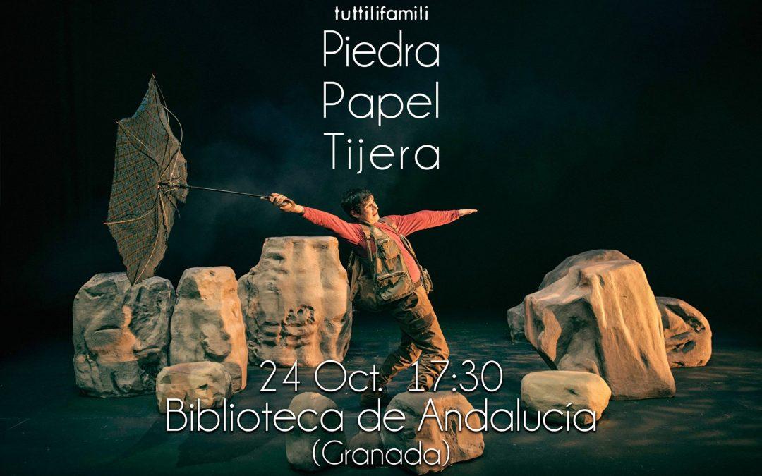 PIEDRA. PAPEL. TIJERA. EN LA BIBLIOTECA DE GRANADA